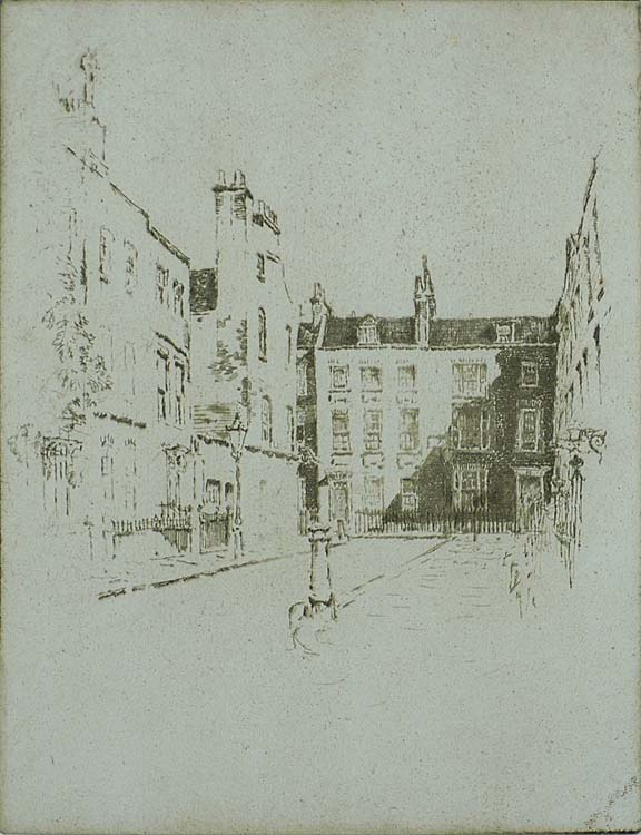 Cowley Street, Westminster - JOSEPH PENNELL - etching