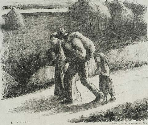 The Vagabonds - CAMILLE PISSARRO - lithograph