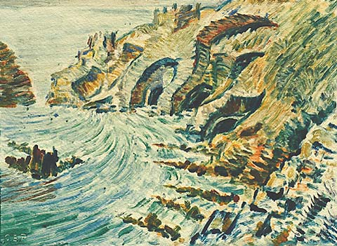 Gouillot Caves, Sark, No. 1 - CYRIL POWER - monotype