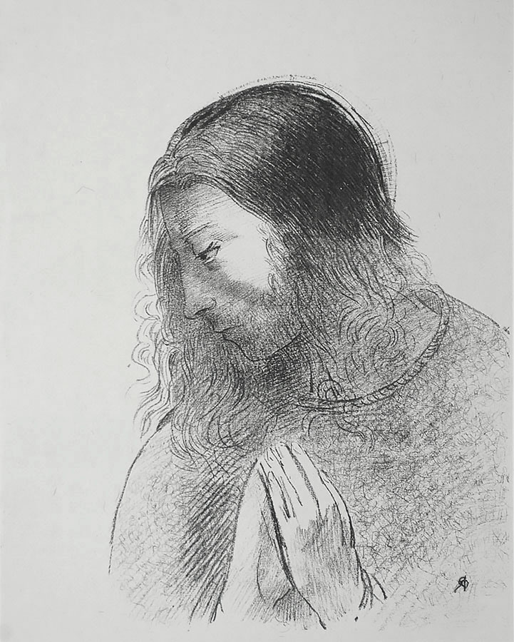 C'est Moi, Jean, Qui ai vu Qui ai Ouï ces Choses (And I, Jean, Saw These Things, and Heard Them) - ODILON REDON - lithograph