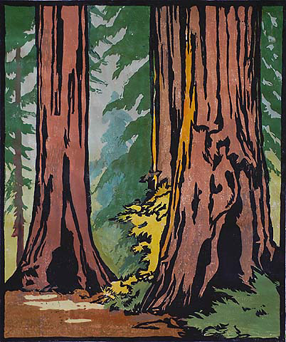 Forest Primeval - WILLIAM S. RICE - woodcut