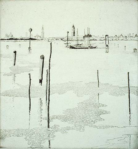 Venice From the Lido - FRED RICHARDS - etching