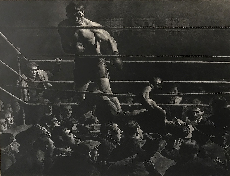 One-Punch Knockout - ROBERT RIGGS - lithograph