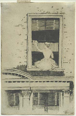 The Window Cleaner, Chelsea - THEODORE ROUSSEL - etching