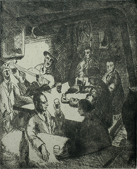 Speakeasy I - LOUIS SCHANKER - etching