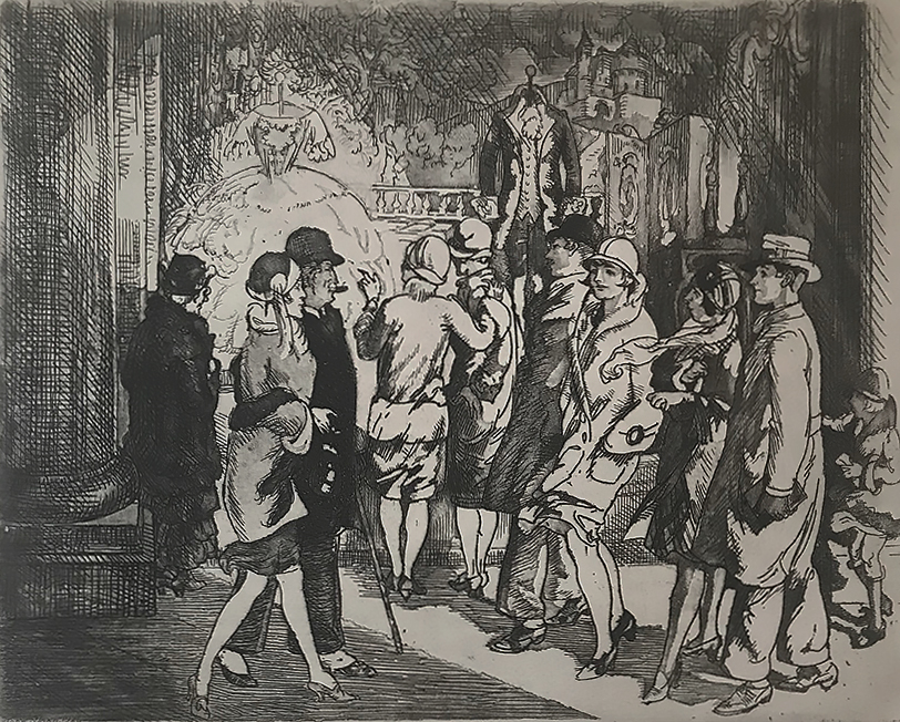 Fashions of the Past - JOHN SLOAN - etching and aquatint