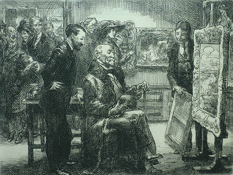 The Picture Buyer - JOHN SLOAN - etching