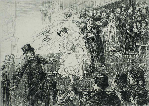 The Little Bride - JOHN SLOAN - etching