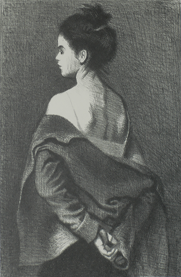 The Model - RAPHAEL SOYER - lithograph