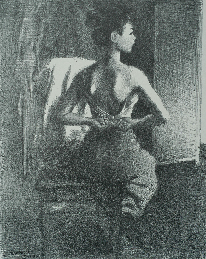 Young Model (The Model) - RAPHAEL SOYER - lithograph