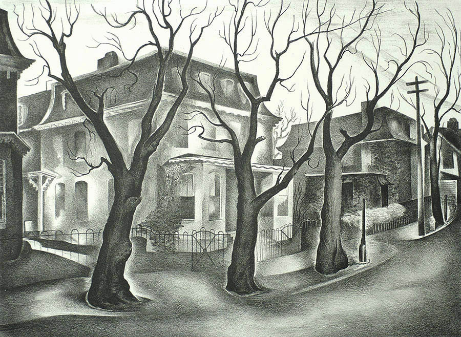 Middle Germantown (PA) - BENTON SPRUANCE - lithograph