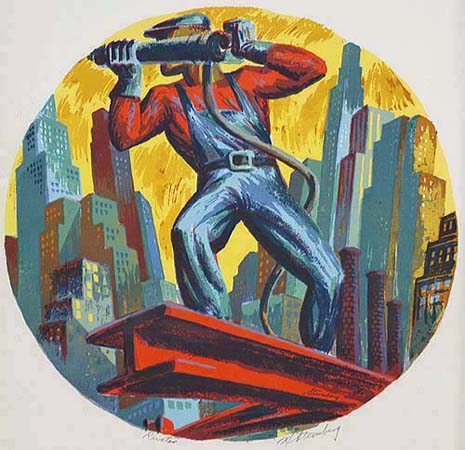 Riveter - HARRY STERNBERG - screenprint