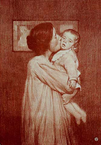 Mother and Child - AIME STEVENS - lithograph