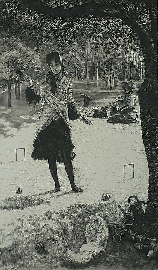 Croquet (Le Croquet) - JAMES TISSOT - etching and drypoint