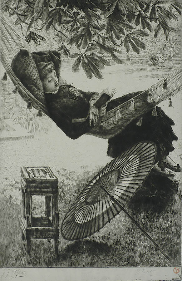 Le Hamac (The Hammock) - JAMES TISSOT - etching and drypoint