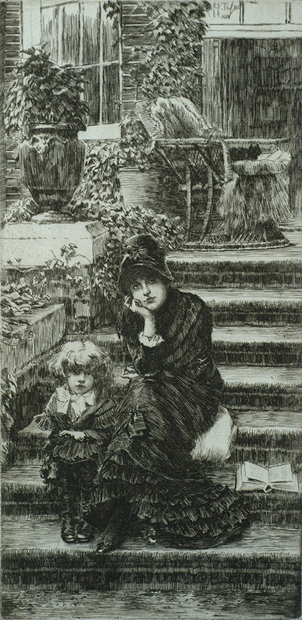 Reverie - JAMES TISSOT - etching