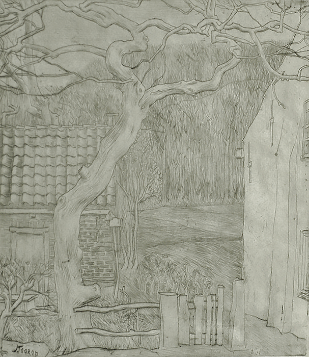 Village Houses (Dorpshuizen) - JAN TOOROP - drypoint