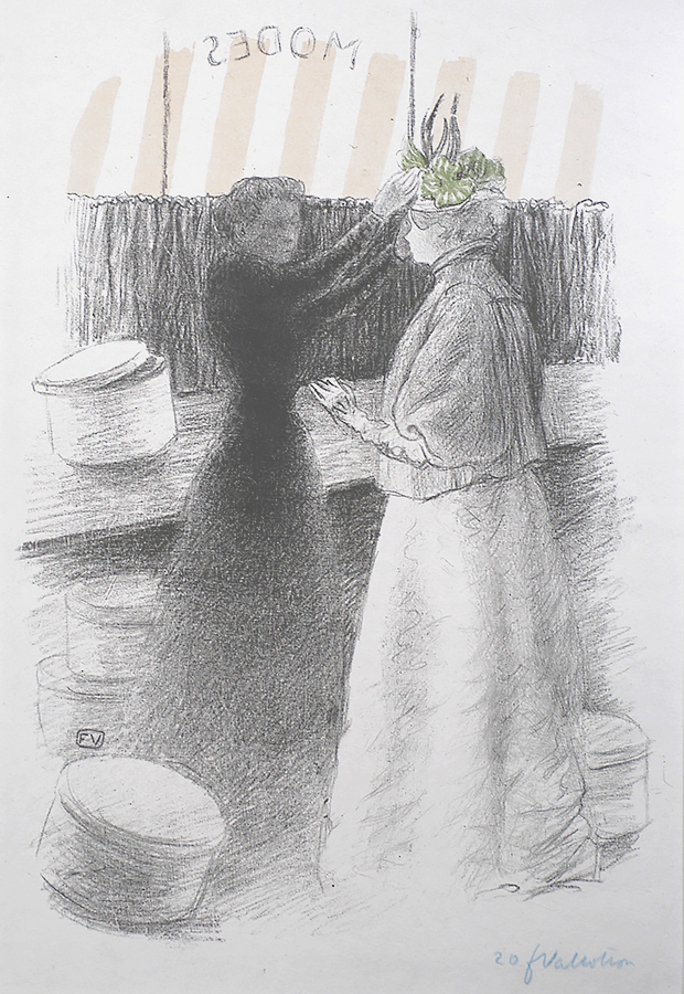 The Green Hat (Le Chapeau Vert) - FéLIX VALLOTTON - lithograph printed in colors