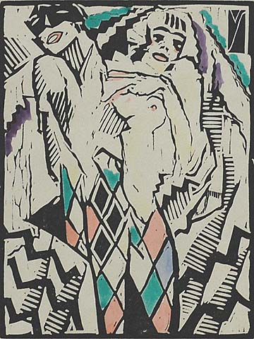 L'apres-midi d'un Faune - HENRI VAN STRATEN - linocuts with added hand-coloring by the artist