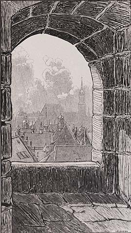 Nuremberg, Germany - J G VELDHEER - wood engraving