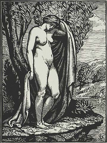 The Bather - JEAN BAPTISTE VETTINIER - woodcut