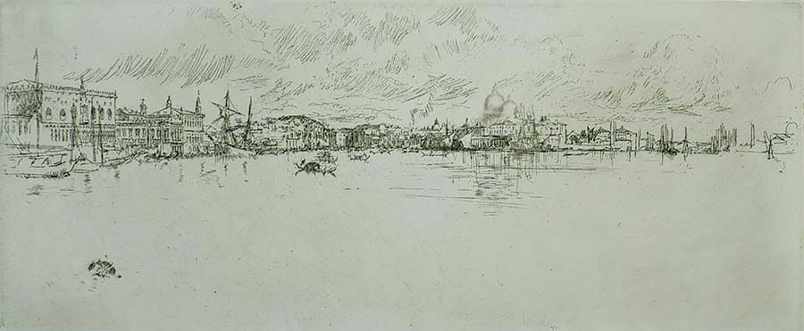 Long Venice - JAMES A. MCNEILL WHISTLER - etching with drypoint
