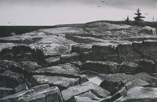 After the Rain (Winter Harbor, Maine) - STOW WENGENROTH - lithograph