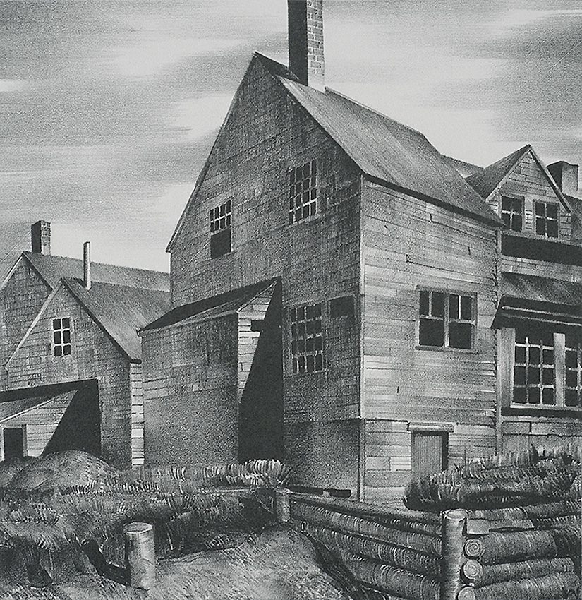 Deserted House - STOW WENGENROTH - lithograph