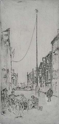 The Mast - JAMES A. MCNEILL WHISTLER - etching and drypoint