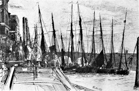 Billingsgate - JAMES A. MCNEILL WHISTLER - etching