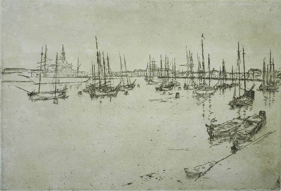 San Giorgio - JAMES A. MCNEILL WHISTLER - etching and drypoint