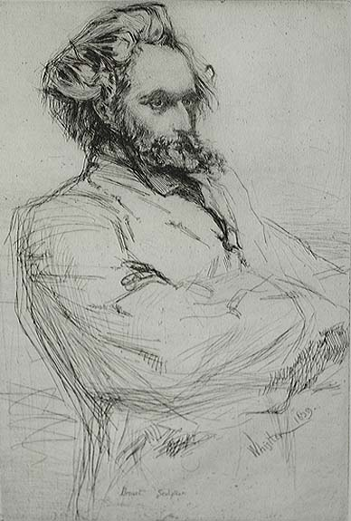 C.L. Drouet, Sculptor - JAMES A. MCNEILL WHISTLER - etching and drypoint