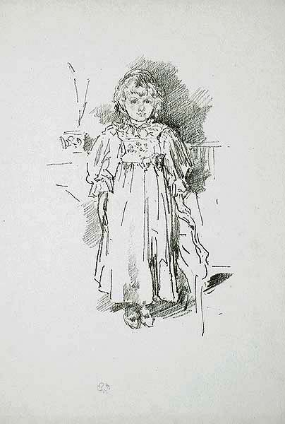 Little Evelyn - JAMES A. MCNEILL WHISTLER - lithograph
