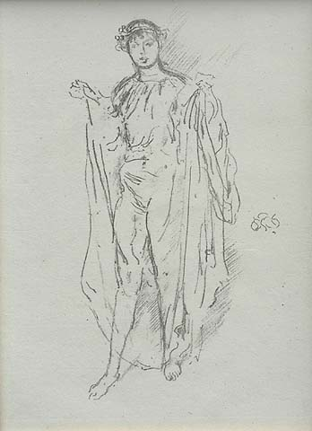 The Girl - JAMES A. MCNEILL WHISTLER - lithograph