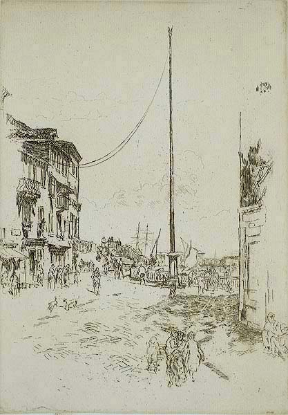The Little Mast - JAMES A. MCNEILL WHISTLER - etching and drypoint