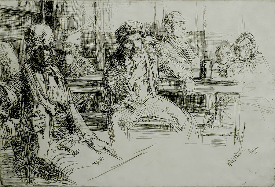 Longshore Men - JAMES A. MCNEILL WHISTLER - etching