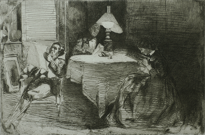 The Music Room - JAMES A. MCNEILL WHISTLER - etching and drypoint