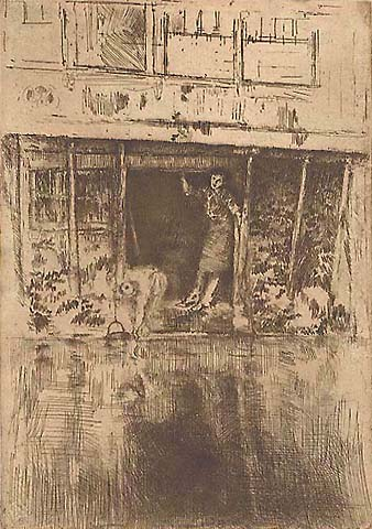 Pierrot - JAMES A. MCNEILL WHISTLER - etching