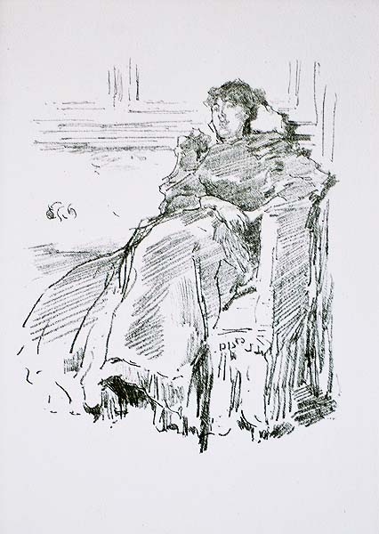 La Robe Rouge - JAMES A. MCNEILL WHISTLER - lithograph
