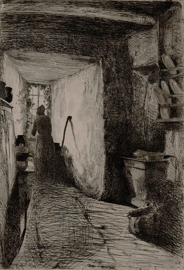 The Kitchen - JAMES A. MCNEILL WHISTLER - etching