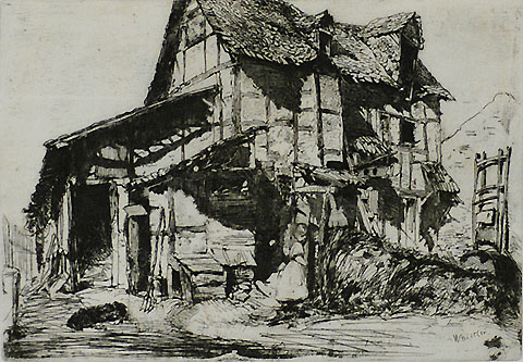 The Unsafe Tenement - JAMES A. MCNEILL WHISTLER - etching