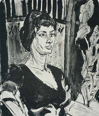 Portrait of a Woman - JAN WIEGERS - lithograph