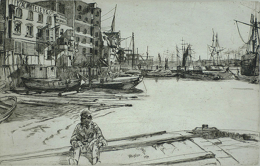 Eagle Wharf - JAMES A. MCNEILL WHISTLER - etching