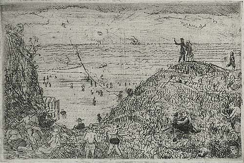 By the Seashore - HENRI VICTOR WOLVENS - etching
