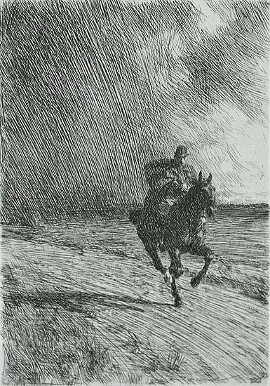 Storm - ANDERS ZORN - etching