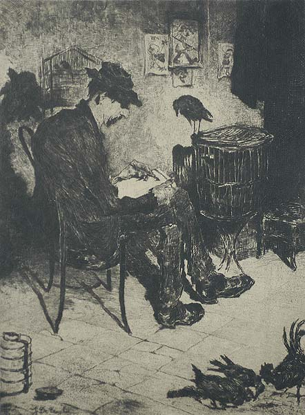 Colleague (Confrère) - JULES DE BRUYCKER - etching