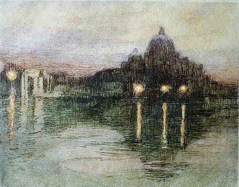 Venice - ELLEN DAY HALE - etching printed