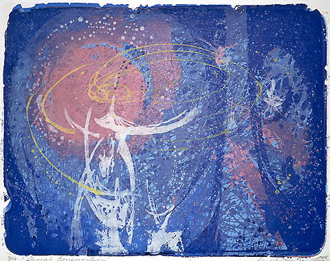 Aerial Conjunction - DOROTHY MCCRAY - color lithograph