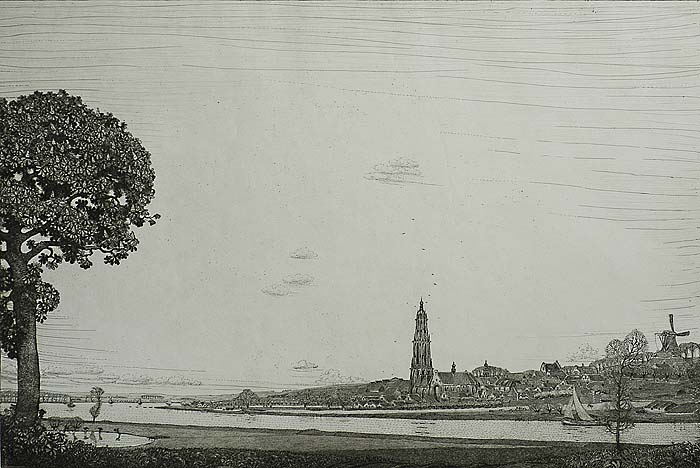 Rhenen (Holland) - WOJ NIEUWENKAMP - etching