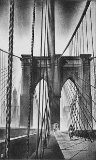 Brooklyn Bridge - LOUIS LOZOWICK